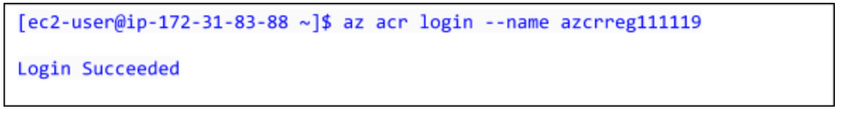 Deploy and use- Login to container registry
