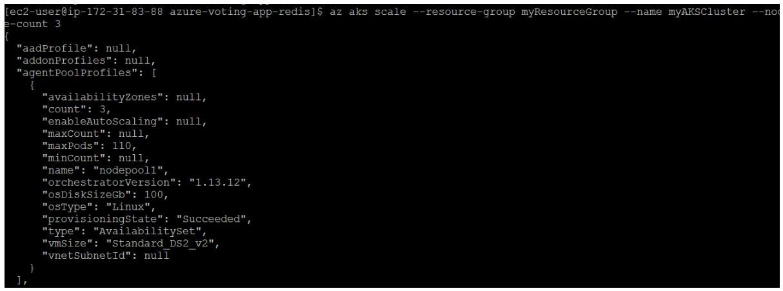 Scale App in AKS- Manually scale AKS Nodes