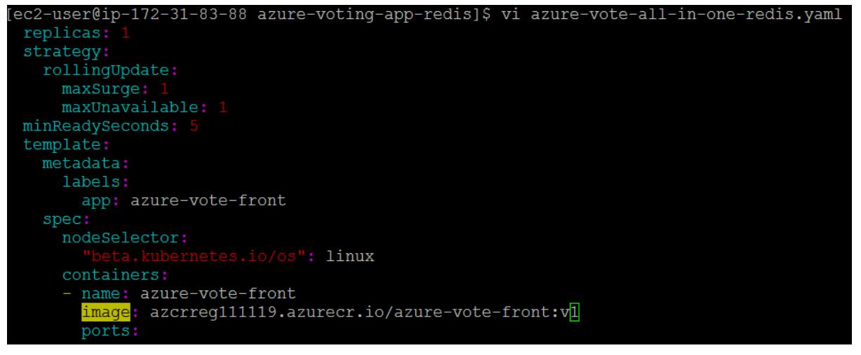 Update Application in AKS- Update App1