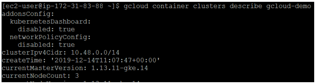 Viewing your cluster