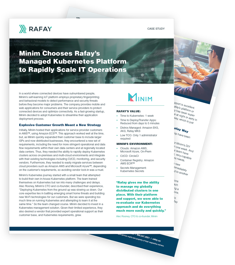 image for Minim Chooses Rafay's Managed Kubernetes Platform to Rapidly Scale IT Operations